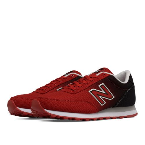 new balance 501 black and red