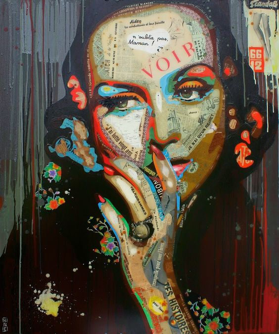 "Artist : Arnaud Bauville PROMESSE TENUE"" 100 x 120 cm (39,4 inches x 47,2 inches )"