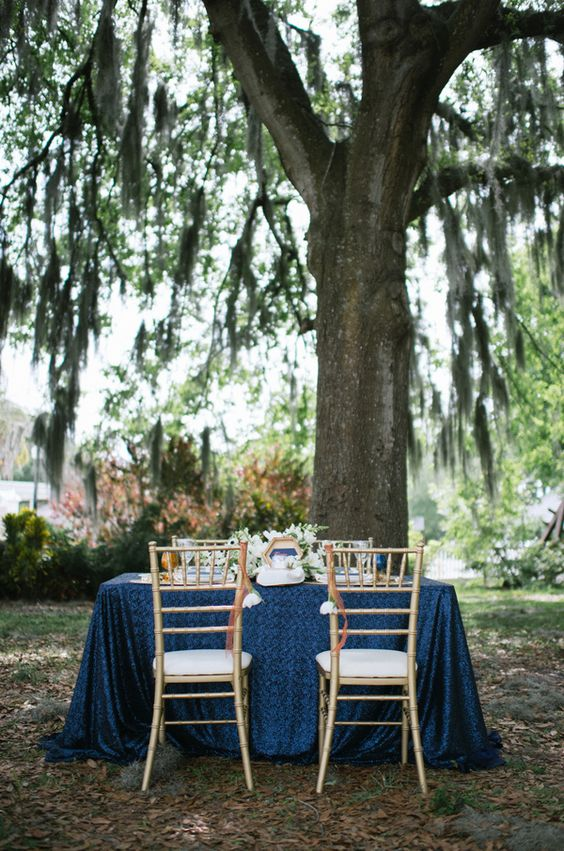 ♡ | Wedding Inspiration- Dark Blue