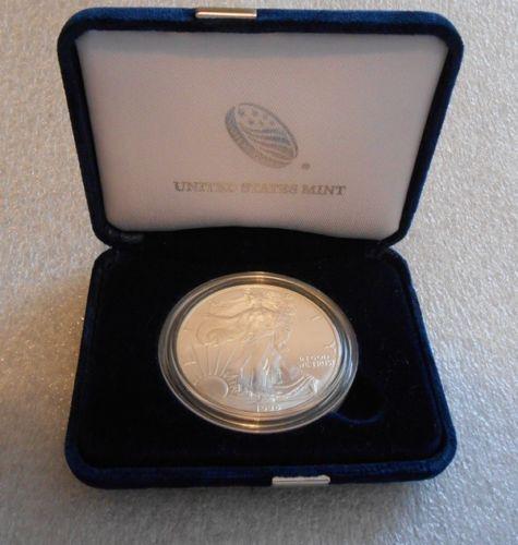 Bullion 1996 American Silver Eagle Coin Unc 1 Oz 999 Fine Silver Bullion In Gift Case Silver Eagle Coins American Silver Eagle Silver Bullion