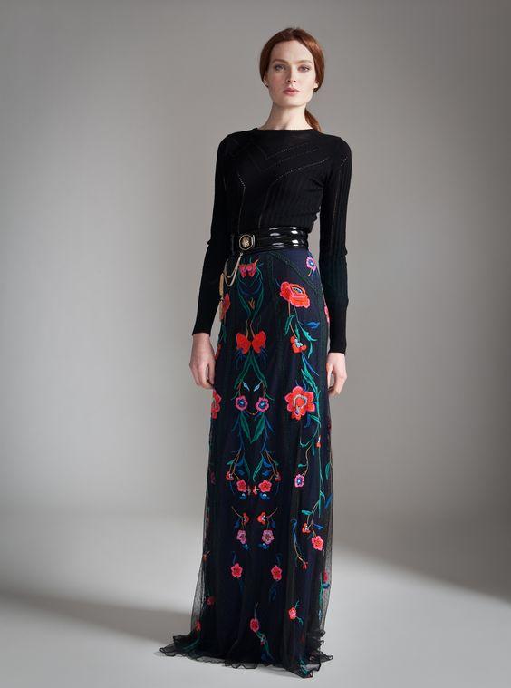 Temperley London Long Eliah Flower Skirt
