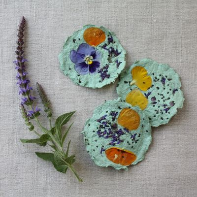 earth day crafts - Paper, seed-paper, gift tags
