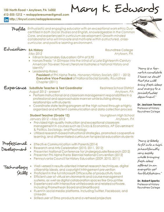 creative creative resume and teaching on