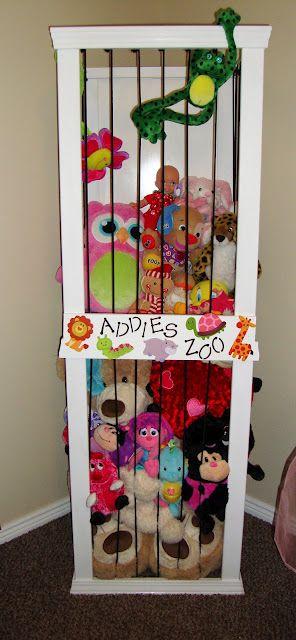 Cute stuffed animal storage...