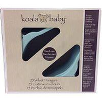 Koala Baby Velvet Hangers - 25 Count (Blue)