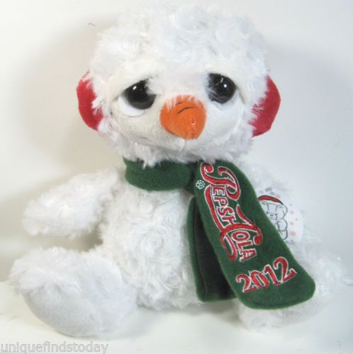 Pepsi Cola Collectible 2012 Plush Snowman Fiesta Tags Attached New