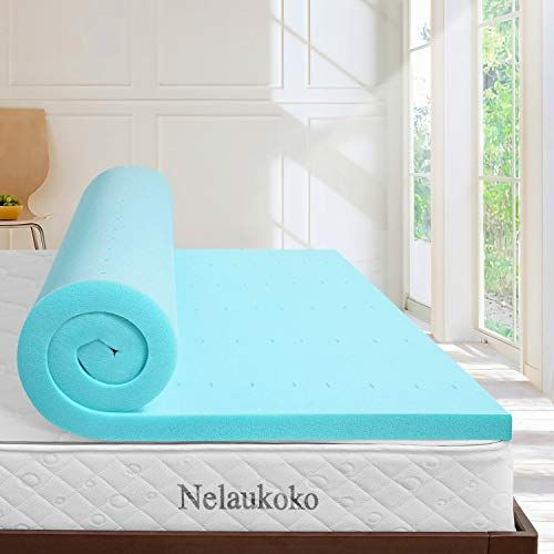 Nelaukoko 3 Inch Full Size Memory Foam Topper Gel Infused Foam