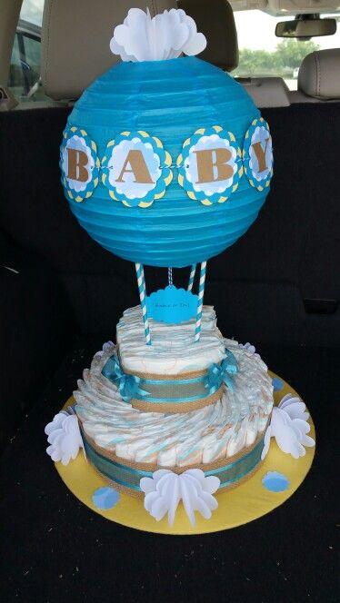 My first hot air balloon diaper cake