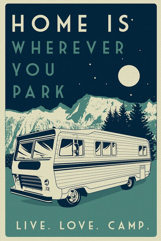"this is 100% original artwork vintage retro camping silk screen print poster live love camp camper night sky - etsy  hand screen printed 2 color design.  ARTWORK SIZE IS 12""X18""  PRINTED ON VANILLA HEAVY COLD PRESSED ARTBOARD (VERY THICK)  limited run of 50  available on etsy $19.99"