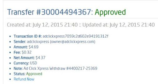 Here is my Withdrawal Proof from AdClickXpress. I get paid daily and I can…