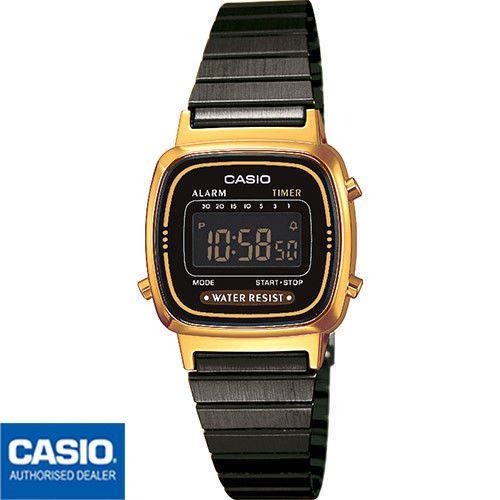 Encuentra Reloj Señora Casio dorado con correa de piel