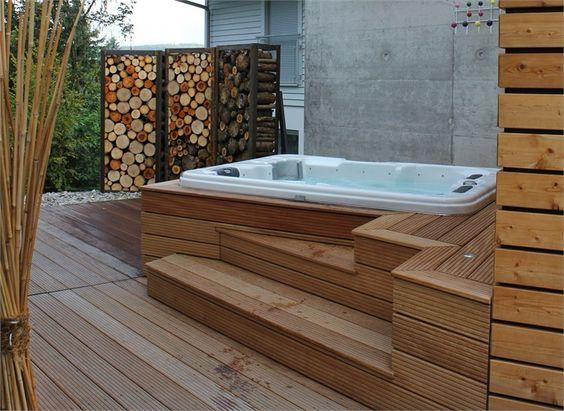 whirlpool im garten zu dritt | dusche open air | pinterest | jacuzzi, Garten und bauen