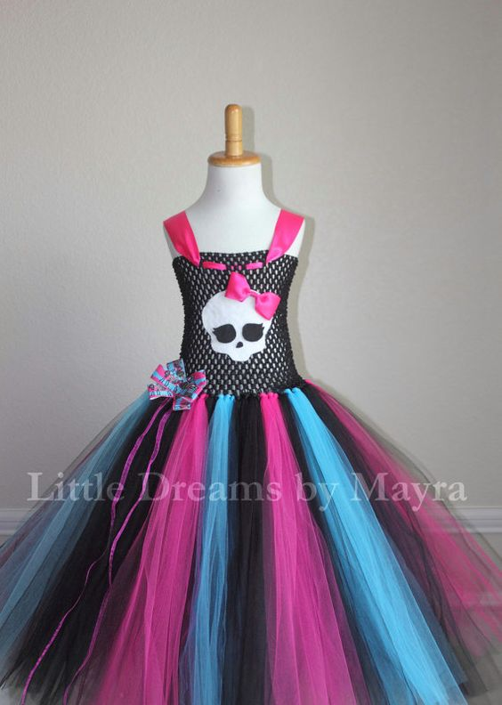 Hey, I found this really awesome Etsy listing at https://www.etsy.com/listing/215079879/monster-high-inspired-tutu-dress-and