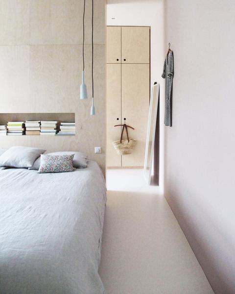 plywood bedroom
