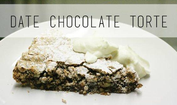 Recipe :: Date Chocolate Torte
