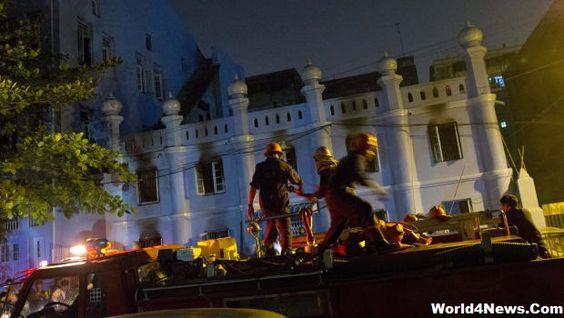 Myanmar Fire At Mosque