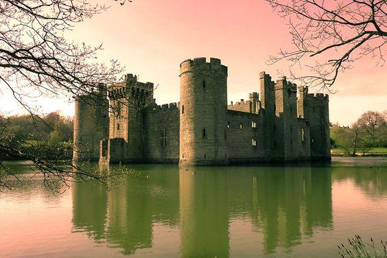 Castello di Bodiam, Robertsbridge, Est Sussex, Inghilterra U.K.