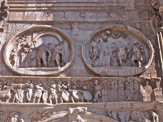 Detalle arco de Constantino
