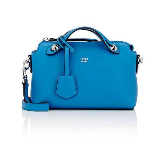 Fendi Women's By The Way Mini-Satchel (5.225 BRL) ❤ liked on Polyvore featuring bags, handbags, colorless, mini satchel handbags, fendi purses, blue satchel, mini handbags and mini purse