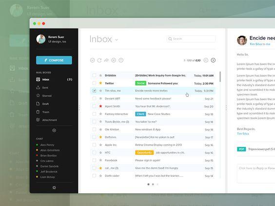 Mail UI design