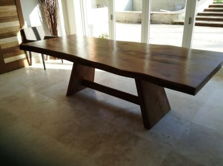 Sweet chestnut dining table from Unique Wild Wood Furniture. Legs could be  made in the