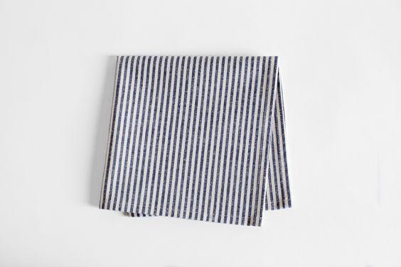 brika stripe napkin by ortolan.