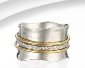 Bague améthyste verte bague perle anneau de par SilverHillEtsy