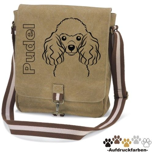 Canvas Tasche Pudel Comic Pudel Taschen Und Hundetasche