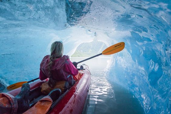 Ice Cave Kayaking in Valdez, Alaska