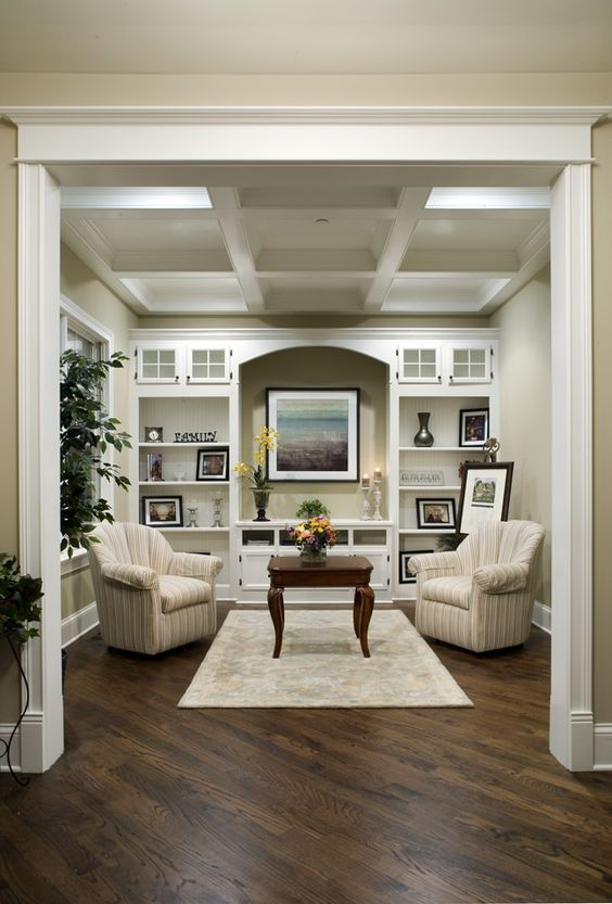 Love the coffered ceiling