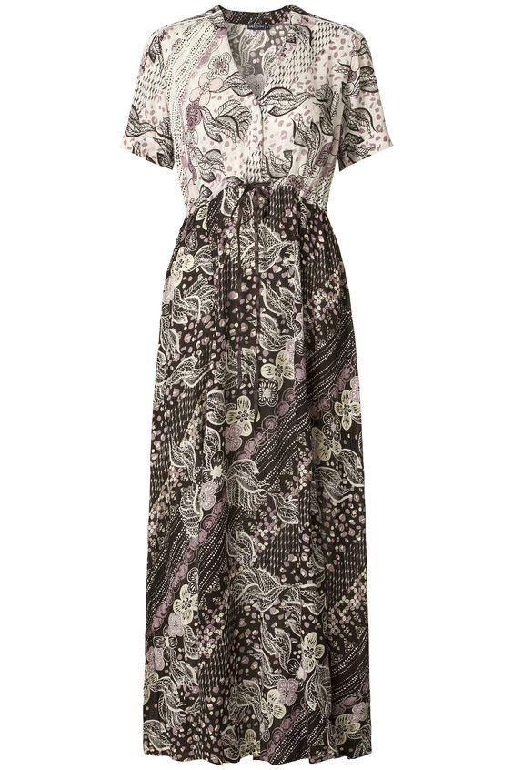 Ethnic Light | Summer collection | Dress | Print all over | Black | Pink | Ecru | Maxi