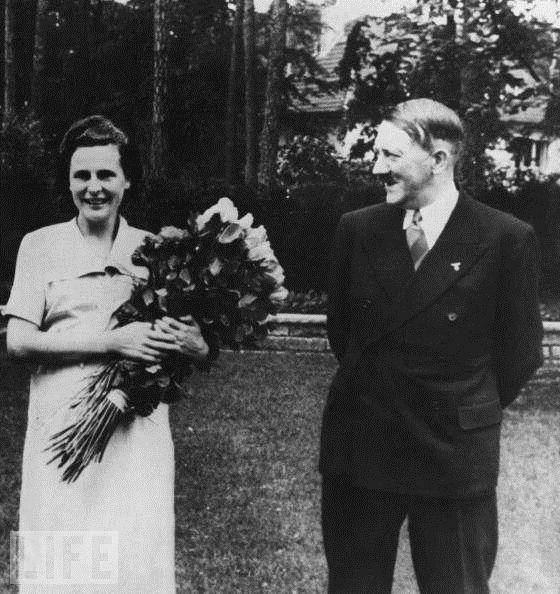 Hitler Smiles Upon Leni Riefenstahl