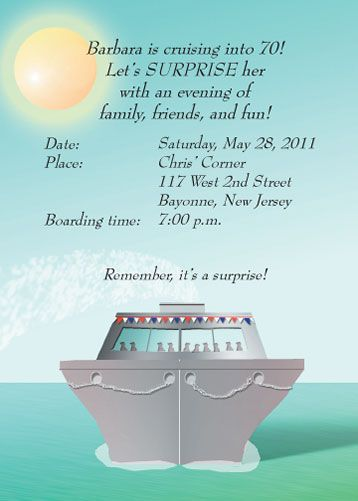Cruise Party Invitation Cruise Nautical Party