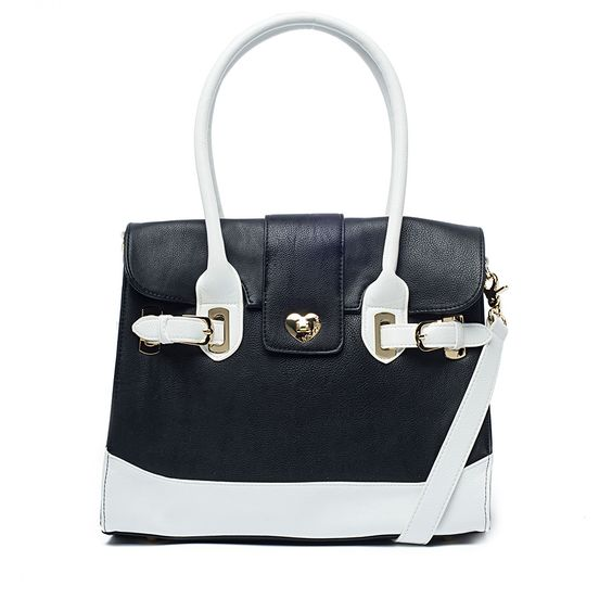 I love the Betsey Johnson Turnlock Tote from LittleBlackBag