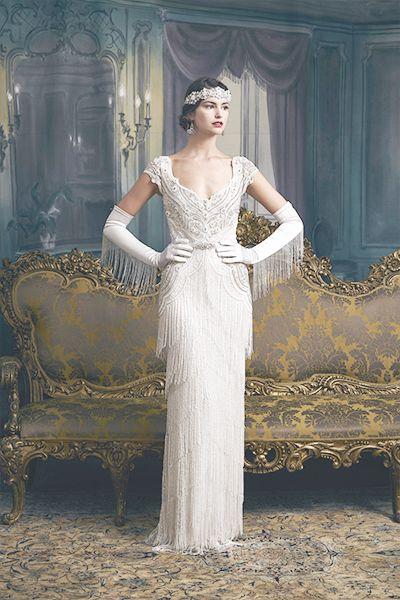 Beaded Fringe Wedding Dress Bycouturier 20er Jahre Kleider Kleider Fur Feste Hochzeitskleid 20er