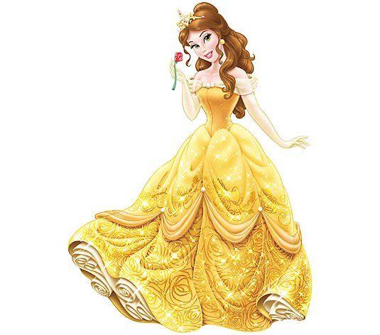 Roommates Princess Belle Peel Stick Giant Wall Decals Qvc Com In 2021 Disney Princess Belle Disney Princess Wallpaper Princess Belle