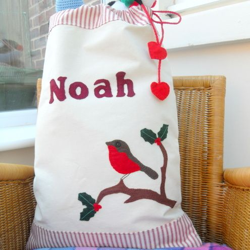 Personalised Christmas Sack - original design by Merry Berry and the Little Panda