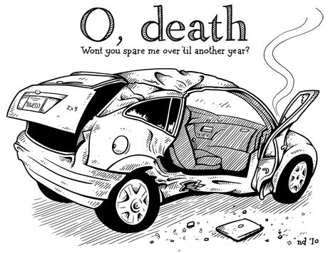 Cartoon Tunnel Car Crash
