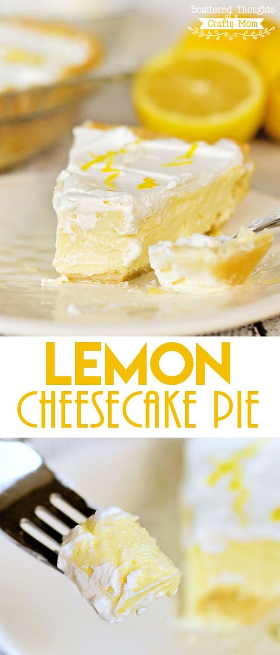 This Lemon Cheesecake Pie recipe is perfect for lemon lovers- so sweet, lemony…