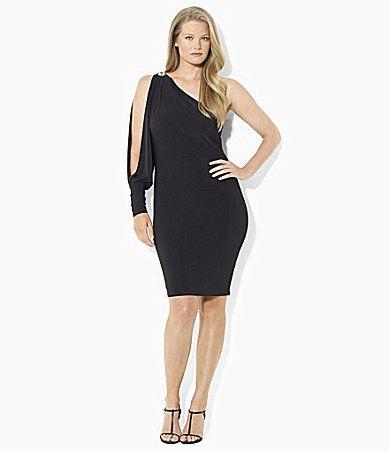 Lauren Ralph Lauren OneShoulder Matte Jersey Evening Dress #Dillards