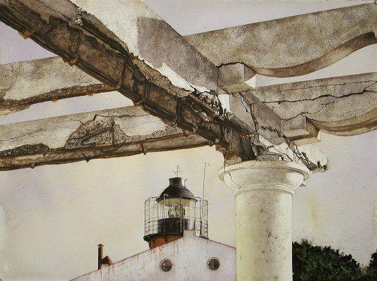 Punta Delgada #2    Acquarello   2001   56x76 cm  Mostre:    Galleria Marieschi, Milano 2002.    Copyright © Giorgio Maria Griffa