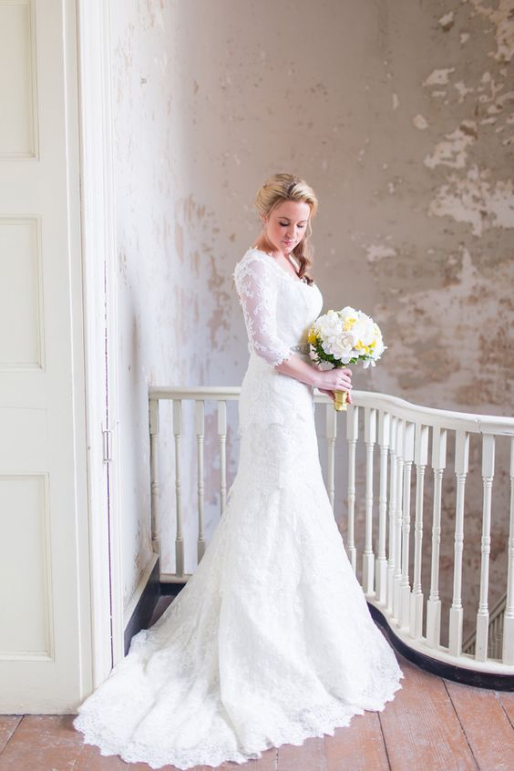 Modest Wedding Dresses Magazine : Lace gowns and modest wedding on