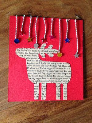 tarjeta de navidad hecha a mano Tarjetas de navidad Pinterest