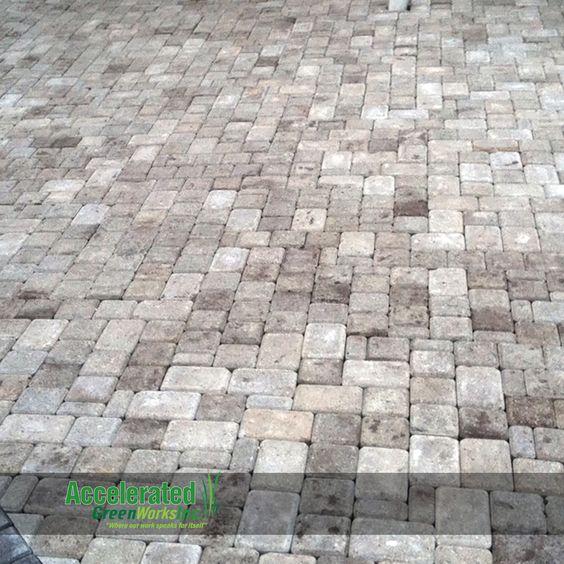 weathered tumbled paver patio 3 stone random pattern