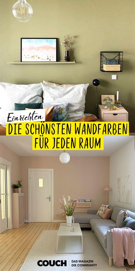 Wandfarben Ideen Farbe Fur Deine Wande Wandfarbe Farbgestaltung Wohnzimmer Zimmer Farben
