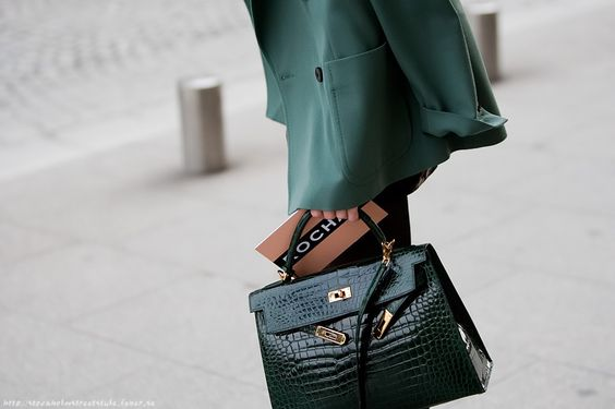 fake hermes purse - ROCHAS invitation and green crocodile HERMES Birkin. | Streetstyle ...