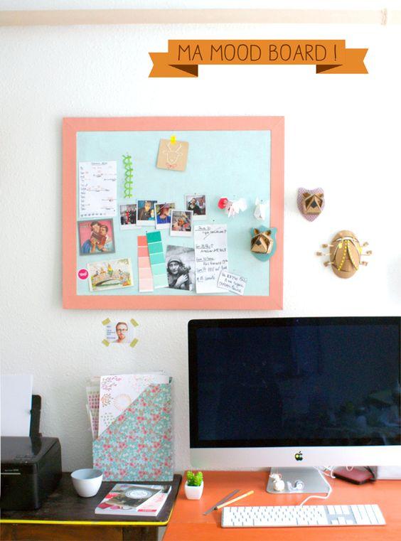 tableau en li ge pour accrocher les photos de mon polaro d. Black Bedroom Furniture Sets. Home Design Ideas
