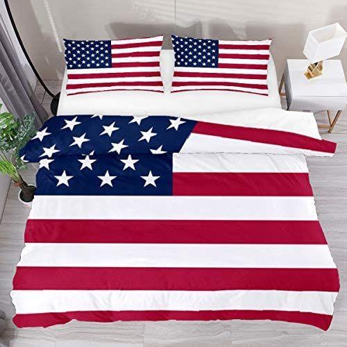 American Flag Comforter Set Soft Duvet Cover Set 3 Piece Full Bed Sets Fade Resistant Bedroom In 2020 Full Bedding Sets Duvet Cover Sets Soft Duvet Covers