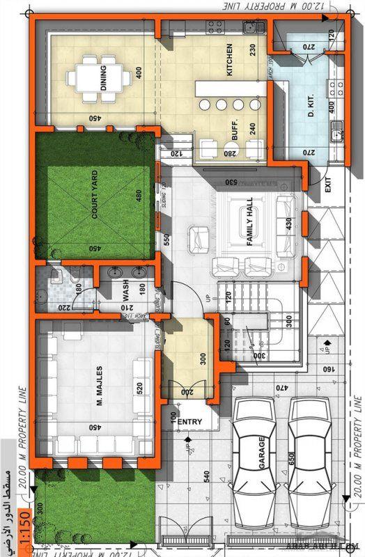 مخطط فيلا صغيرة مساحة الأرض 240 مساحة الدور الارضي 150 للمصمم المعمارى عمار ناصر Architectural Floor Plans House Plans Mansion Bungalow Floor Plans