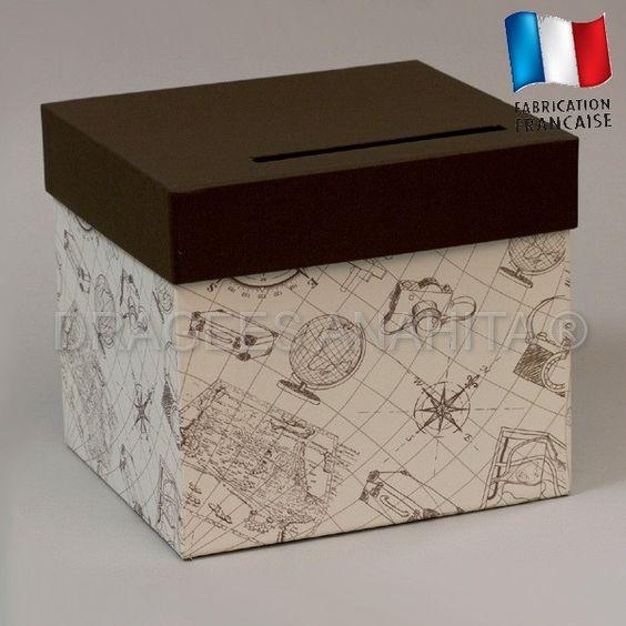 urne originale pour une c l bration un anniversaire mariage sur le th me du monde du voyage et. Black Bedroom Furniture Sets. Home Design Ideas